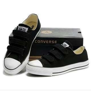 BN Black Velcro Converse Shoes