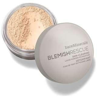 包郵📦bareMinerals礦物淨肌抗痘粉底 BLEMISH RESCUE SKIN-CLEARING LOOSE POWDER FOUNDATION 6g