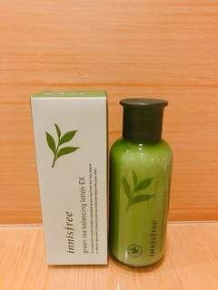 🚚 innisfree 綠茶水平衡柔膚乳 160ml
