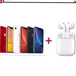 萊分期 Apple iPhone XR 128G+Airpods  學生分期 軍人分期 手機分期 免頭款 免財力證明  免卡分期 為24期價