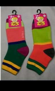 🚚 全新童毛巾襪(撞色款)中統襪19-21公分💮