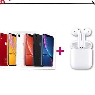 萊分期 Apple iPhone XR 64G+Airpods  學生分期 軍人分期 手機分期 免頭款 免財力證明  免卡分期 為24期價