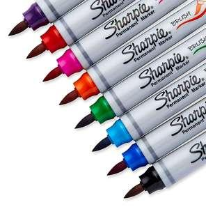 Out of stock: BN Sharpie Brush-Tip Permanent Markers 8ct Assorted Colours