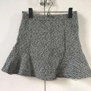 Ladies' Gray Peplum Skirt