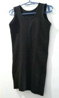 Ladies' Plain Black Bandage Dress