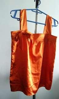 BCBL Ladies' Orange Satin Top