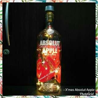 Absolut Apple with 20 Warm White Fairy Lights (1l)