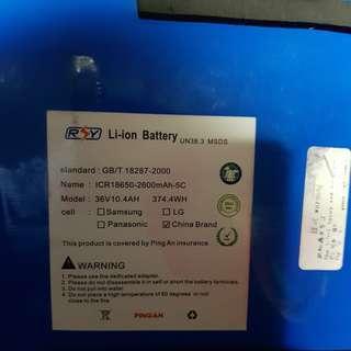 36v 10.4ah li ion battery