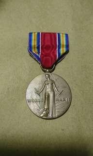二次大戰 美國 美軍勝利獎章