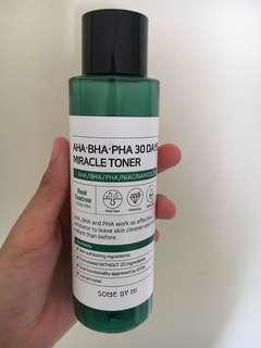SOME BY ME AHA BHA 30 DAYS MIRACLE TONER ( BOTTLE ONLY ) // ( EMPTY BOTTLE ) #XMAS25