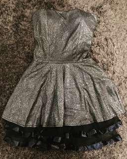 Mini dress party Gold