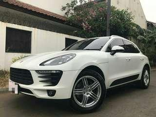 PORSCHE MACAN 2.0 ATPM NIK 2016 REGISTER 2017 WHITE ON BROWN