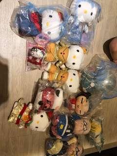 Random soft toys