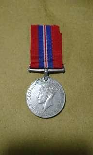 1939—1945 二戰期間 大英帝國國防民防獎章