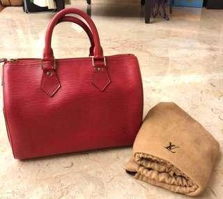 *ORI* Louis Vuitton LV Speedy 25 handbag in Epi Leather