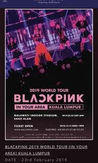 Blackpink Standing Blink Zone Ticket