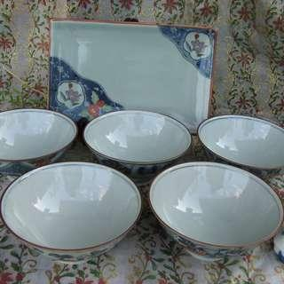 Bowls and Square Plate