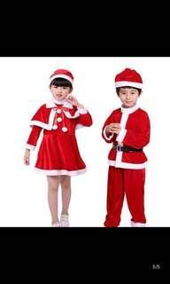 IN STOCK Kids Santa Claus costume boy Santa Claus costume girl santarina costume Christmas party costume