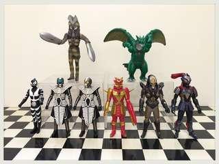 🚚 👉#日超人力霸王 奧特曼 鹹蛋超人 怪獸軟膠玩具 👈