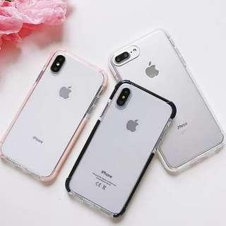 (Soft) Transparent Extra Protection Outline iPhone Case
