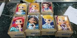 全新日本景品qposket迪士尼公主系列電鍍版