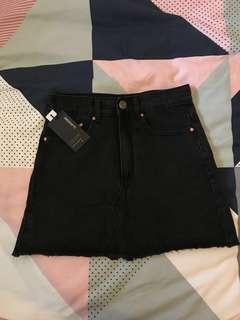 GLASSONS Black Denim Skirt