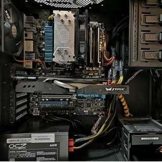 i5-3570K, Z77V-Pro, 16GB-2133Mhz, GTX980 gaming rig