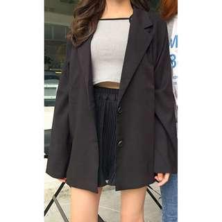 BNIP Korean Oversized Black Blazer