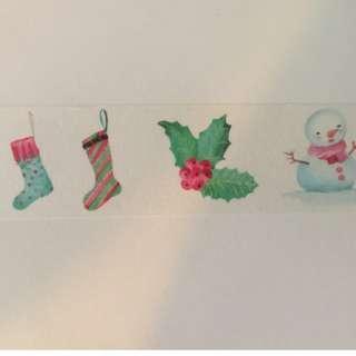 Christmas Icons AR045 Washi Tape 30mm x 5m