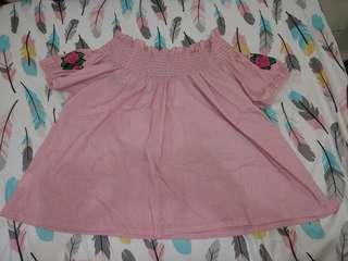Pink off-shoulder