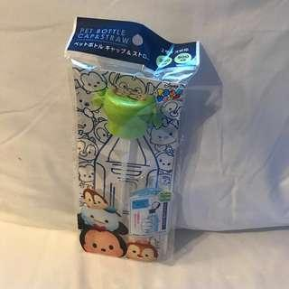 Chip and Dale Tsum pet bottle cap n straw