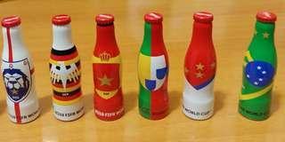 2018世界盃可口可樂迷你鋁瓶 全6支 FIFA World  Cup Mini Coca Cola Aluminium Bottle