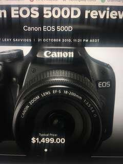 Canon EOS 500D 15.1 MP Digital SLR Camera