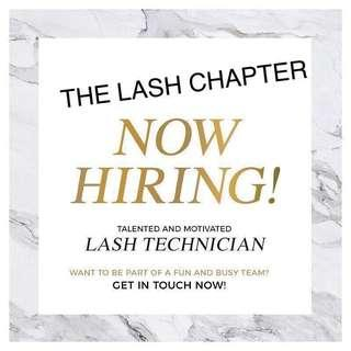 Hiring Full Time Eyelash Extension Specialists