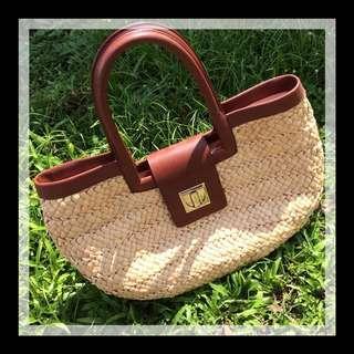 Kate Spade Rattan picnic bag