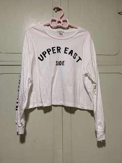 白色衛衣 forever 21 top size m