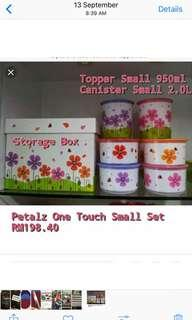 Tupperware one touch 8pcs