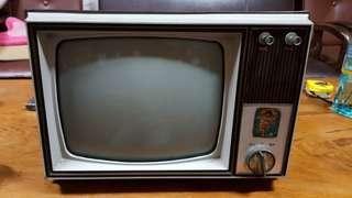 早期10吋手提電視,古董,