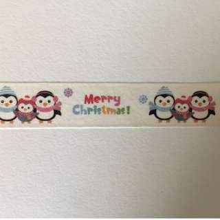 Penguin Merry Christmas GJ1090 Washi Tape 15mm x 10m