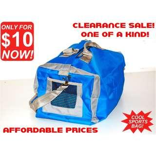 Duffel Bag (Cool Blue Sports Bag Style) *CLEARANCE SALE! Discount Price at $10 offer now! FIRST COME FIRST SERVE!*