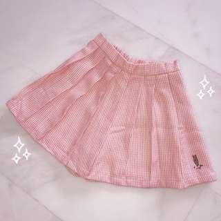 Peach Pink Rabbit Skirt Skorts
