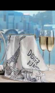 DIDIER DUBOT絲巾連鍍14K玫瑰金拼珍珠絲巾扣
