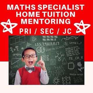 Maths Home Tutor | Primary School Secondary Maths Tuition | EMaths AMaths H1 H2 Maths Tuition | IB Maths Tuition | Looking for Maths Tutor | O Level MOE Teacher | PSLE Foundation Maths Tuition | PSLE Maths Problem Solving Skills | One to One | AEIS