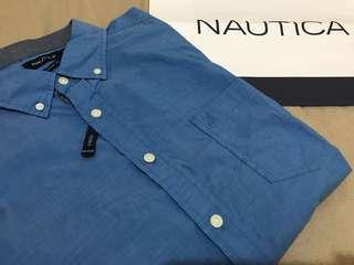 🚚 全新🇺🇸Nautica 美國帆船牌 素色襯衫 L
