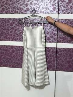 Criss Cross Striped Dress