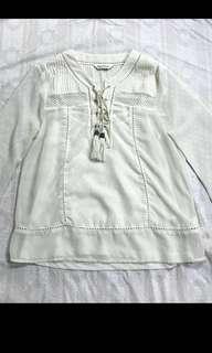 Miss Selfridge Boho  White Long Sleeves