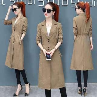 Korean long jacket/ trench coat