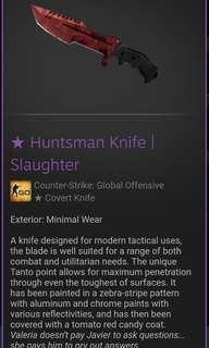 Huntsman knife slaughter {CSGO} skin