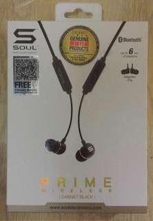 SOUL Prime Wireless  無線藍芽耳機 黑色