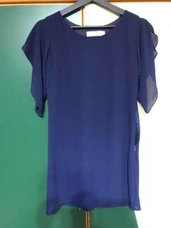 Hollyhoque navy blue dress